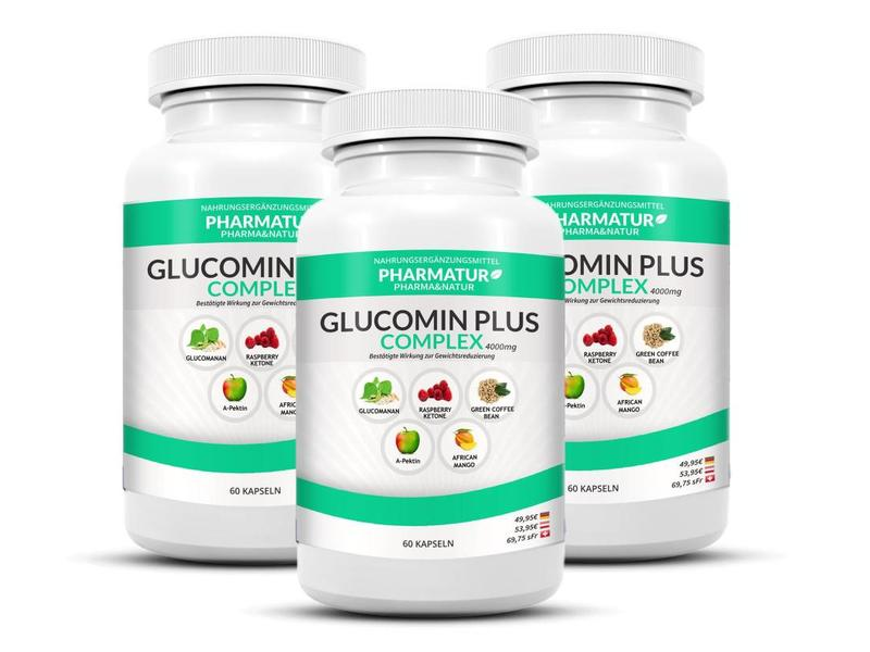 Pharmatur Glucomin Plus 3+1 Set (4 Dosen)