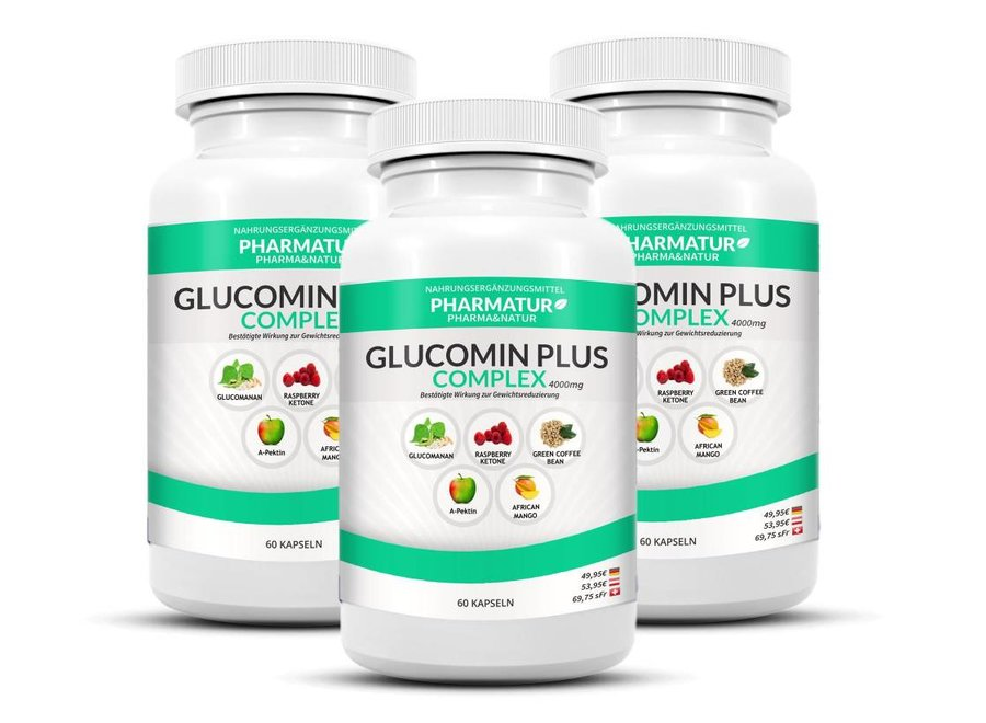 Glucomin Plus 3 +1 set (4 containers)