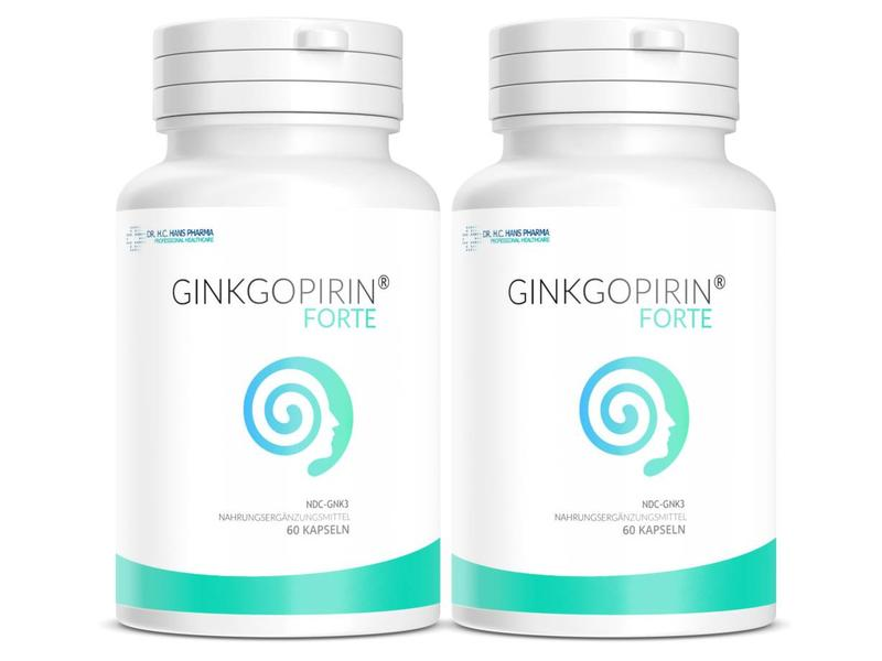 Dr. H.C. Hans Ginkgopirin Plus - Ginkgo Biloba Extrakt nach Dr. H.c. Hans