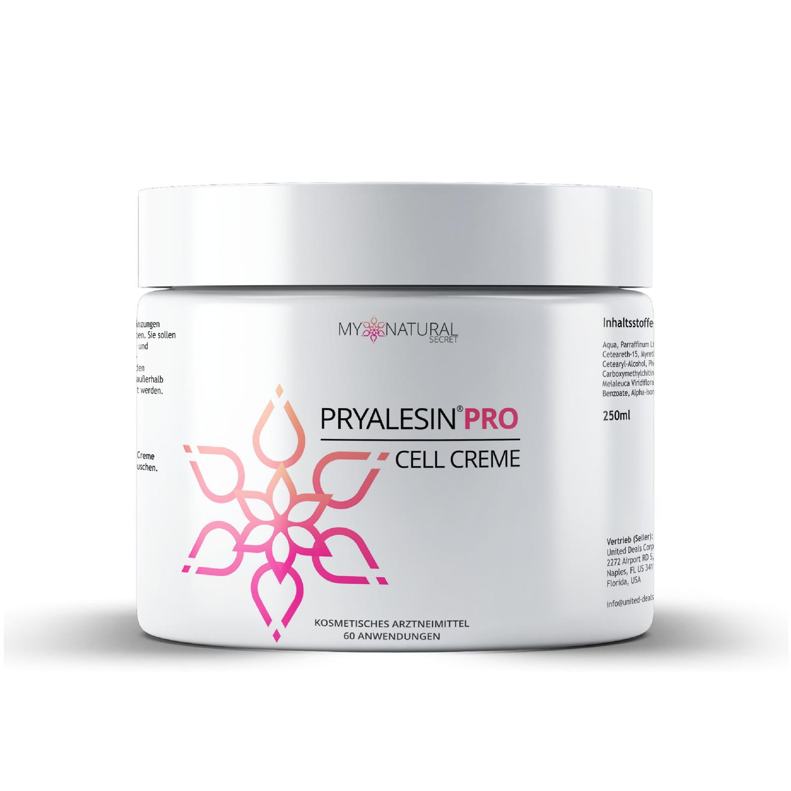MyNaturalSecret Pryalesin anti-cellulite cream 250 ml XXL tub MyNaturalSecret