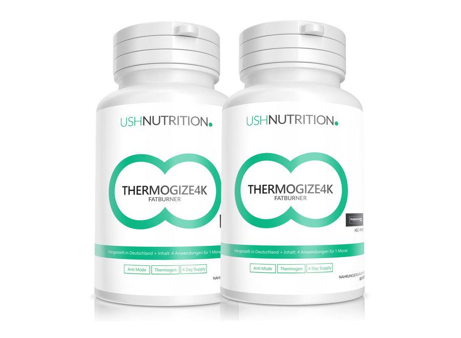 Quemagrasas Thermogize 4K: USH Nutrition,2 x 60 Cápsulas