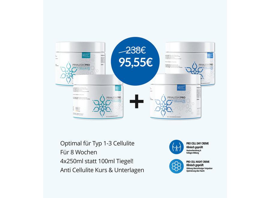 MyNaturalSecret - Cellulite defense kit per 3 mesi per cellulite da moderata a forte