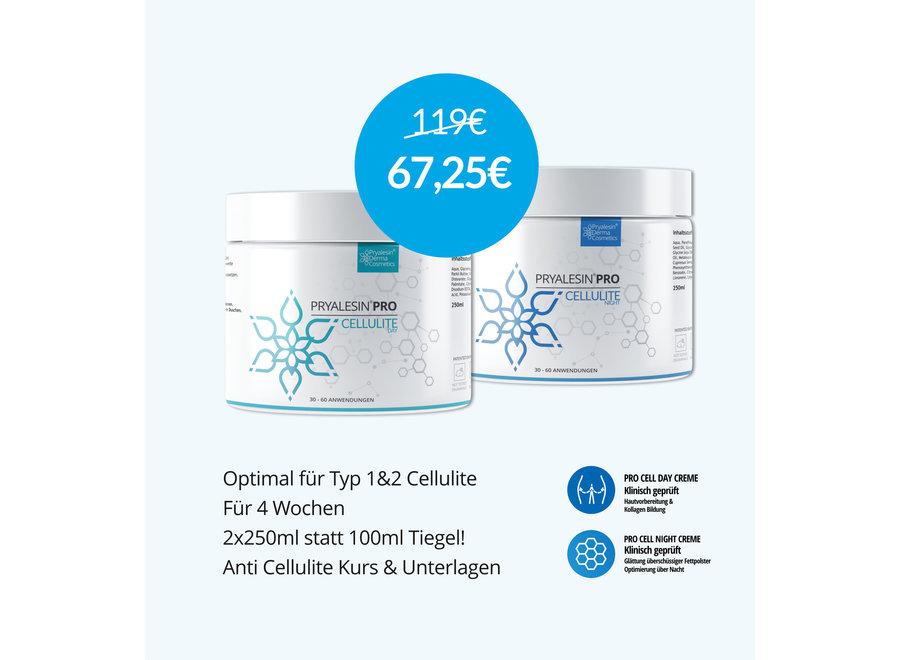 MyNaturalSecret - Kit anticellulite 2 mois avec crème gratuite pour le traitement de la cellulite modérée