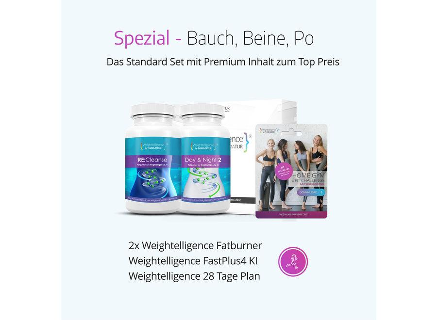 Weightelligence® Spezial - Bauch, Beine, Po (Inklusive 2x WT Fatburner, Bodyfit Programm & Fatburn KI)