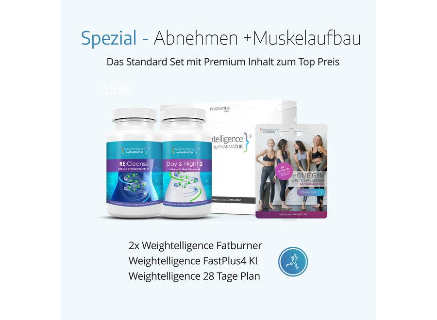 Weightelligence® Spezial - Abnehmen +Muskelaufbau (Inklusive 2x WT Fatburner, Bodyfit Programm & Fatburn KI)