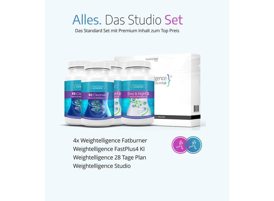 Weightelligence® Studio Set (Inklusive 4x WT Fatburner, Bodyfit Programm & Fatburn KI)