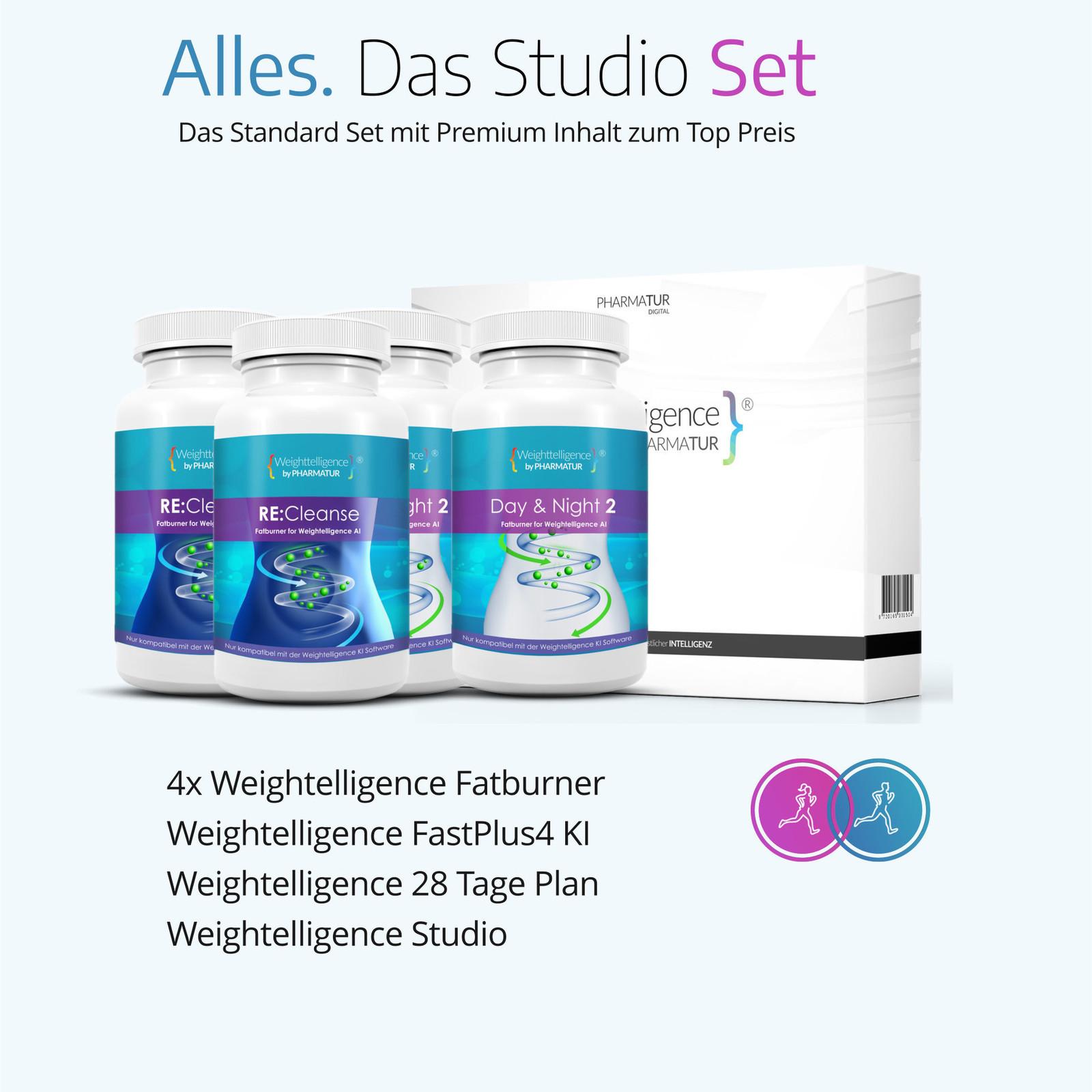 Weightelligence Weightelligence® Veggi 1 Monat (Inklusive 2x Day&Night Veggi Drink & Fatburn KI)