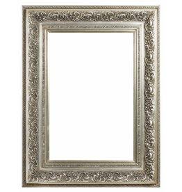 Genova - zilveren barok kader van hout