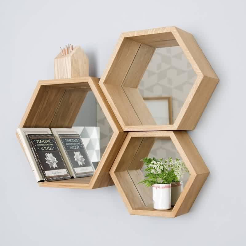Madrid - spiegel collage (hexagon)
