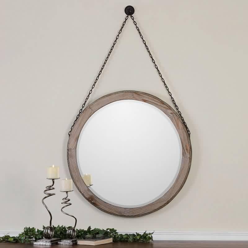 Apulia - ronde spiegel