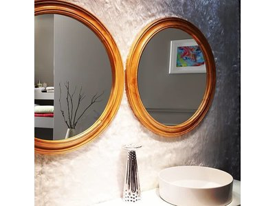 Ronde Houten Spiegel : Ronde spiegel hout cool spiegel hout zwart ronde zonder lijst