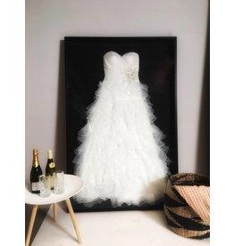 Laat uw trouwjurk inkaderen - Basic Style - Black edition