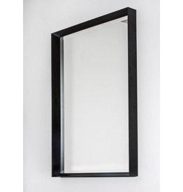 Corsica Grande - bakspiegel met zwarte designkader (6 cm)