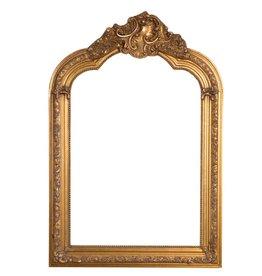 Parijs - Spiegel met gouden barok kader met kuif