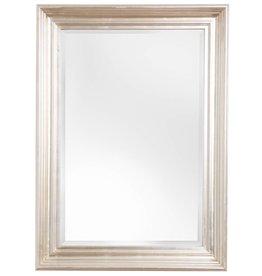 Brescia - spiegel met moderne zilveren kader