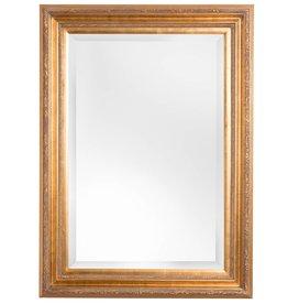 Montpellier - facet spiegel met gouden kader