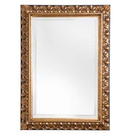 Padua - spiegel met gouden kader met bruine rand