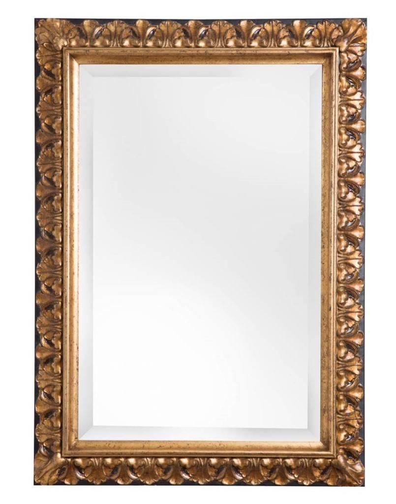 Bekend Padua - spiegel met gouden kader met bruine rand - KunstSpiegel.BE #TZ38
