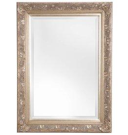 Turin - sfeervolle spiegel met barok zilveren kader