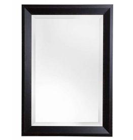 Nantes - facet spiegel met donker bruine houten kader
