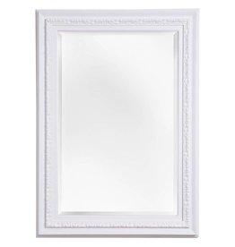 Murcia - facet spiegel met unieke witte kader