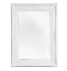 Nice - sfeervolle spiegel met barok witte kader