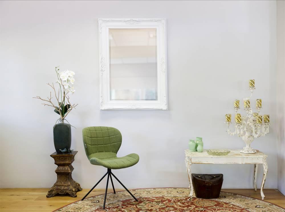 Witte Barok Spiegel : Nice sfeervolle spiegel met een witte barok kader kunstspiegel be
