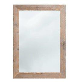Wood - spiegel met steigerhouten kader (geschuurd)