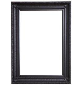 Bari - zwarte kader van hout met ornament