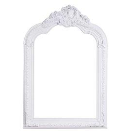 Parijs - Spiegel met witte barok kader met kuif