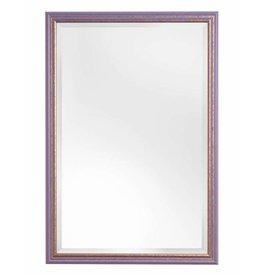 Breda - spiegel met vrolijke paars met gouden kader