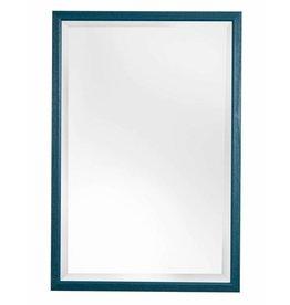 Lille - spiegel met smalle blauwe kader