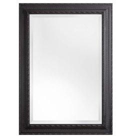 Nyons - spiegel met zwarte barok kader met ornament