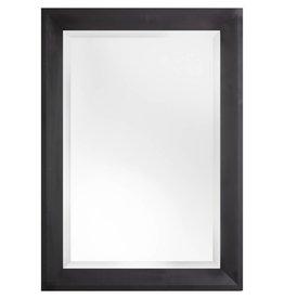 Nantes - facet spiegel met zwarte houten kader