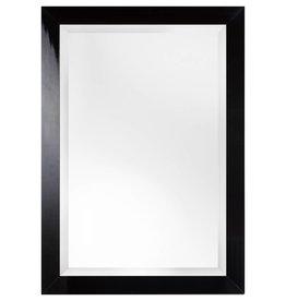 Torino - moderne glimmende zwarte spiegel