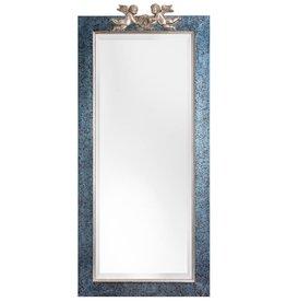 Engelen - spiegel met blauw zilveren kader met engelen