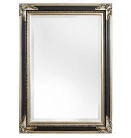 Naples - spiegel met zwart zilveren kader