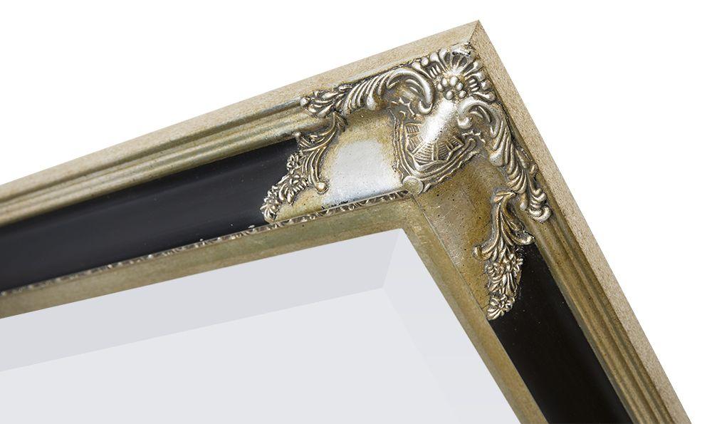 Naples (met spiegel) - Zwart / Zilver