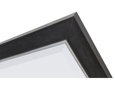 Modena (met spiegel) - Zwart-Zilver