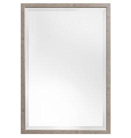 Rimini - spiegel met smalle licht bruine kader met zilver