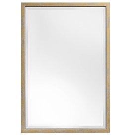 Rimini - spiegel met smalle geel-gouden kader met zilver