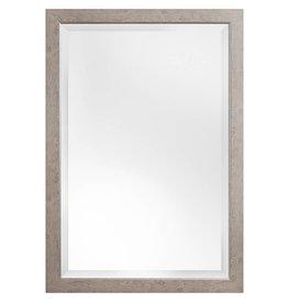 Rimini Grande - spiegel met licht bruine kader met zilver