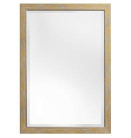 Rimini Grande - spiegel met geel-gouden kader met zilver
