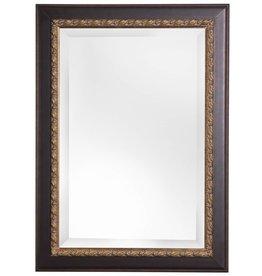 Forli - spiegel met donker bruine kader (donkere rand)