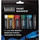Paintmarker set wide 6stuks