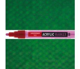 Amsterdam paintmarker 619 2-4mm rond permanentgroen donker