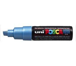 Uni-Posca marker large PC8K metallic blauw