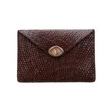 Envelop Clutch Brown