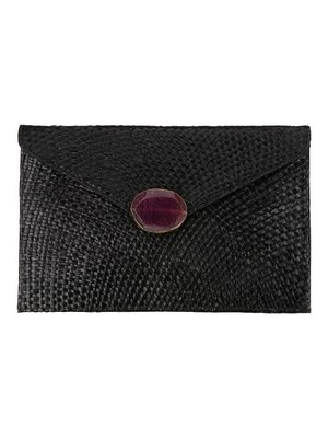 Envelop Clutch Black