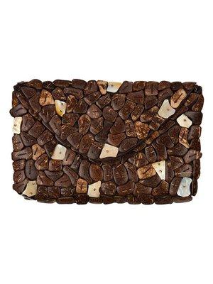 Coco Envelop Clutch Brown